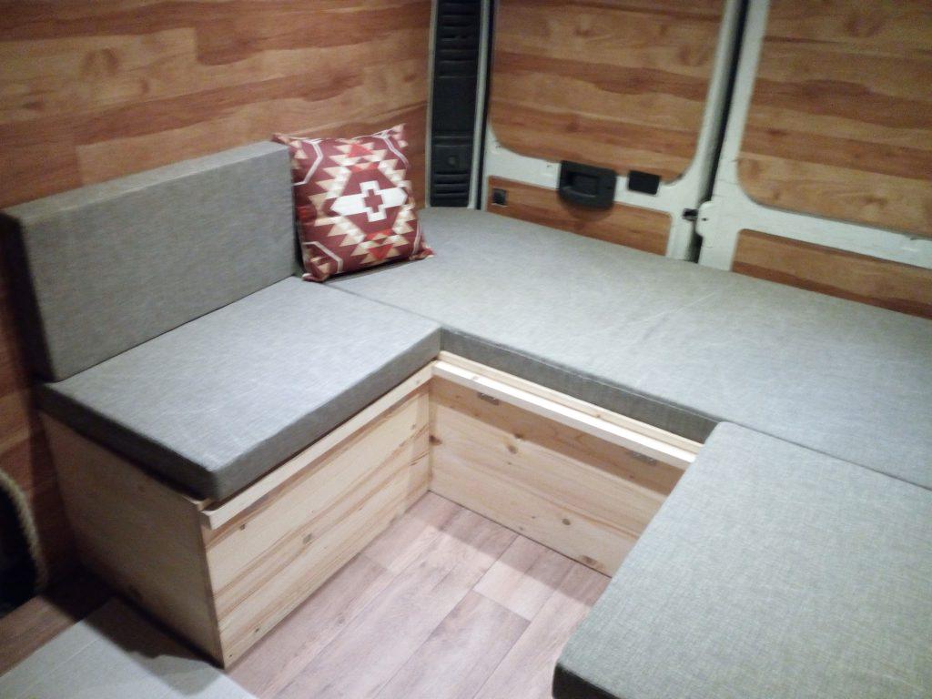 Camperizzare un furgone 6 Il letto